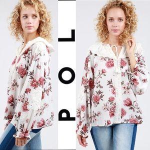 This POL Floral Printed Peasant Top